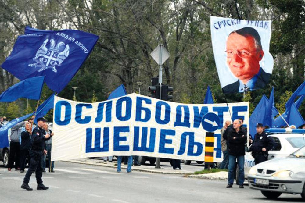 Protest SRS: Oslobodite Šešelja
