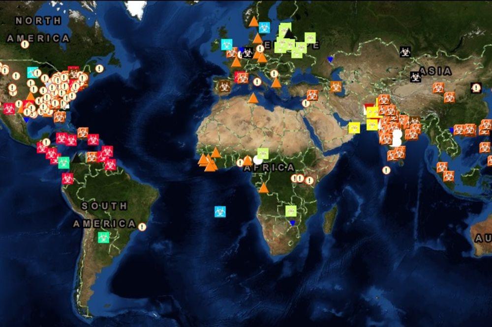 U REALNOM VREMENU: Pratite širenje ebole širom sveta!