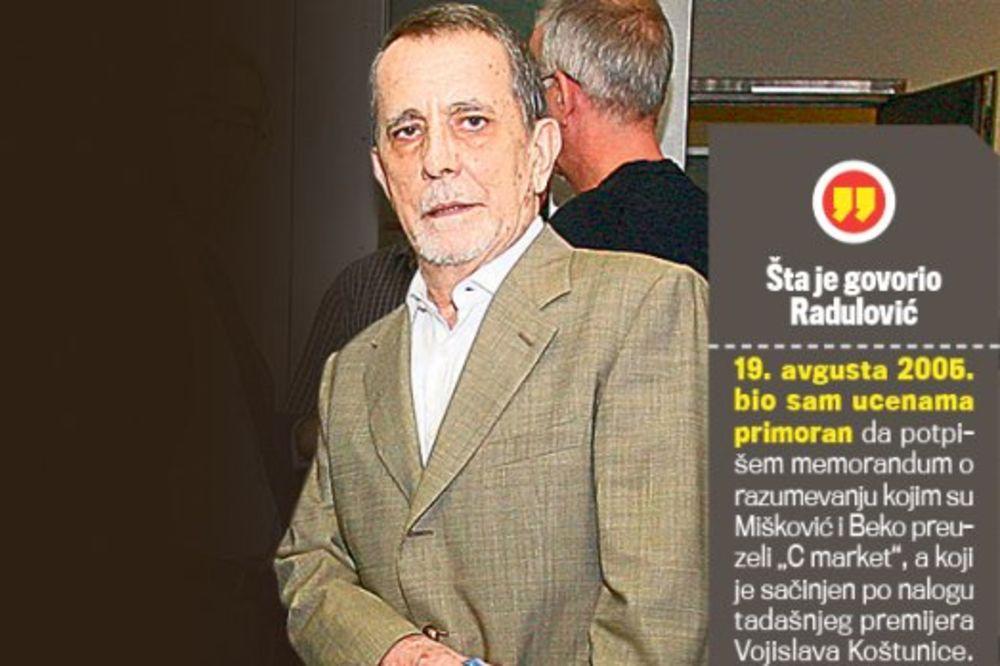 Radulović umro, ali se Mišković nije izvukao