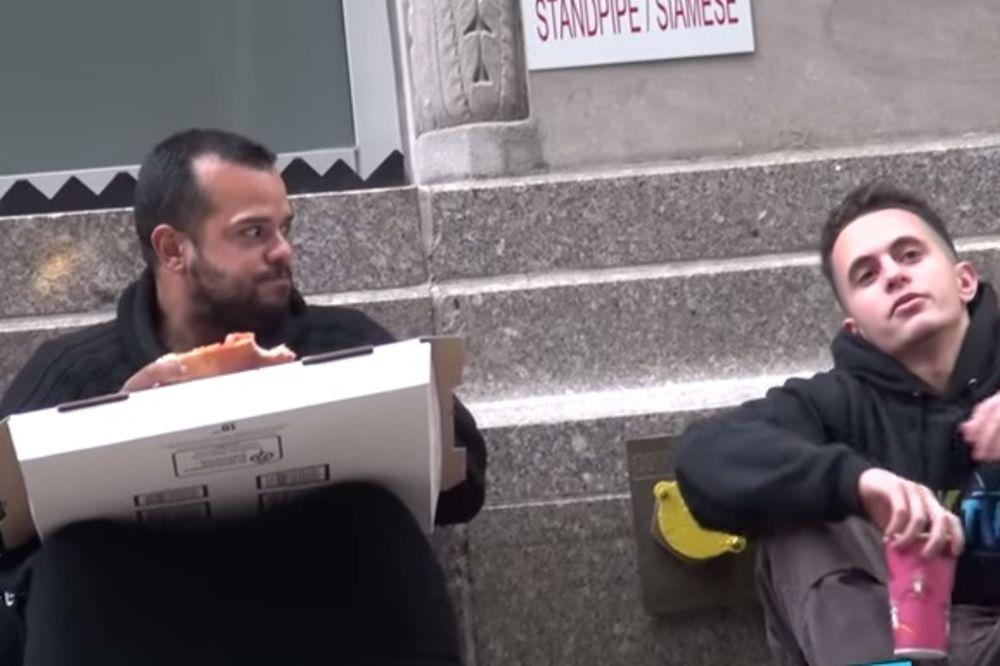 (VIDEO) Beskućniku dali ostatke pice, ono što se zatim desilo izmamiće vam suze na oči!