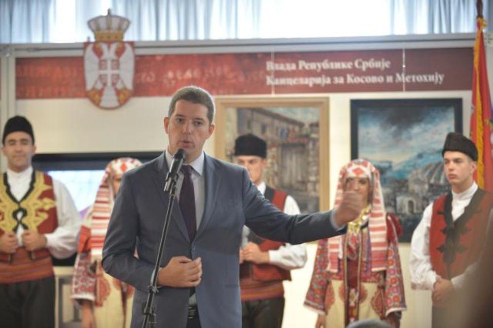 Đurić otvorio štand Kancelarije za Kosovo: Borićemo se svim srcem za ono što je naše!