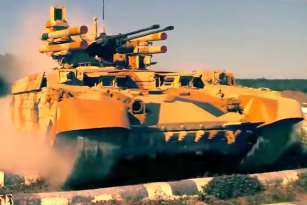 SMRTONOSNO ORUŽJE: Novi ruski tenk terminator puca sa pet kilometara (VIDEO)