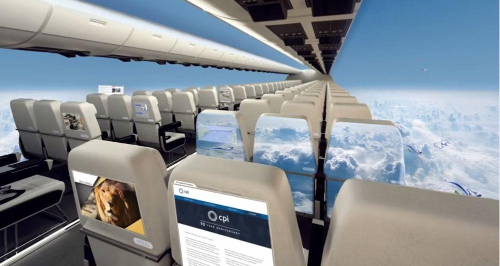 NEVEROVATNA BUDUĆNOST: Uskoro ćemo leteti u avionima bez prozora!
