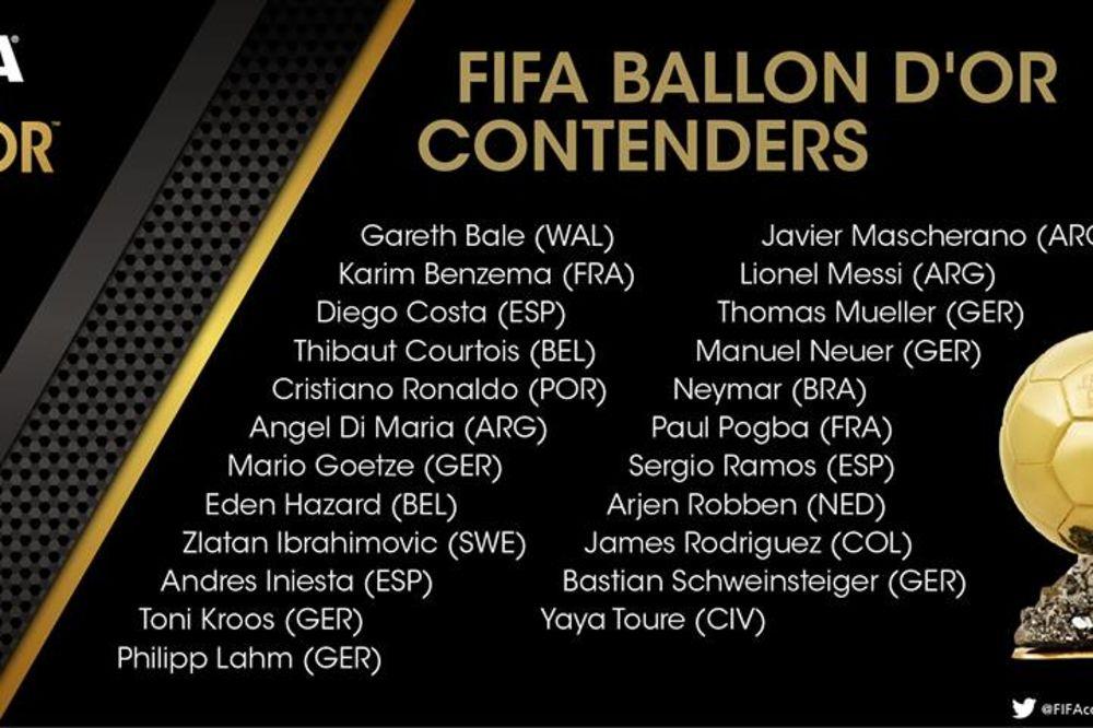 (VIDEO, ANKETA): FIFA objavila kandidate za Zlatnu loptu, kome bi trebalo da pripadne?