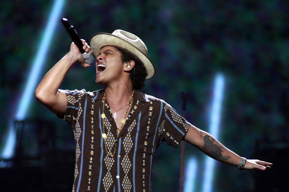 Bruno Mars i Ed Širan na festivalu Rok u Riju