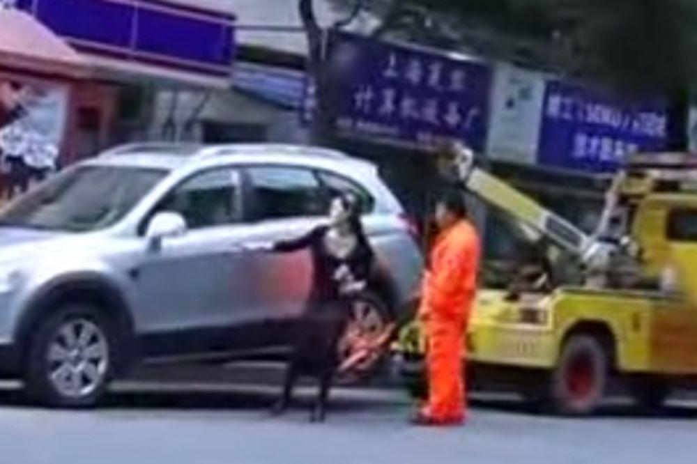 ČUDO NEVIĐENO: Pogledajte šta je devojka uradila kada je pauk hteo da joj odveze auto