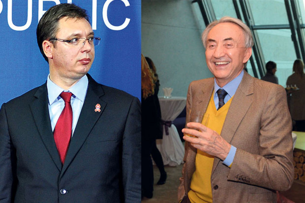 Aleksandar Vučić i Miroslav Mišković