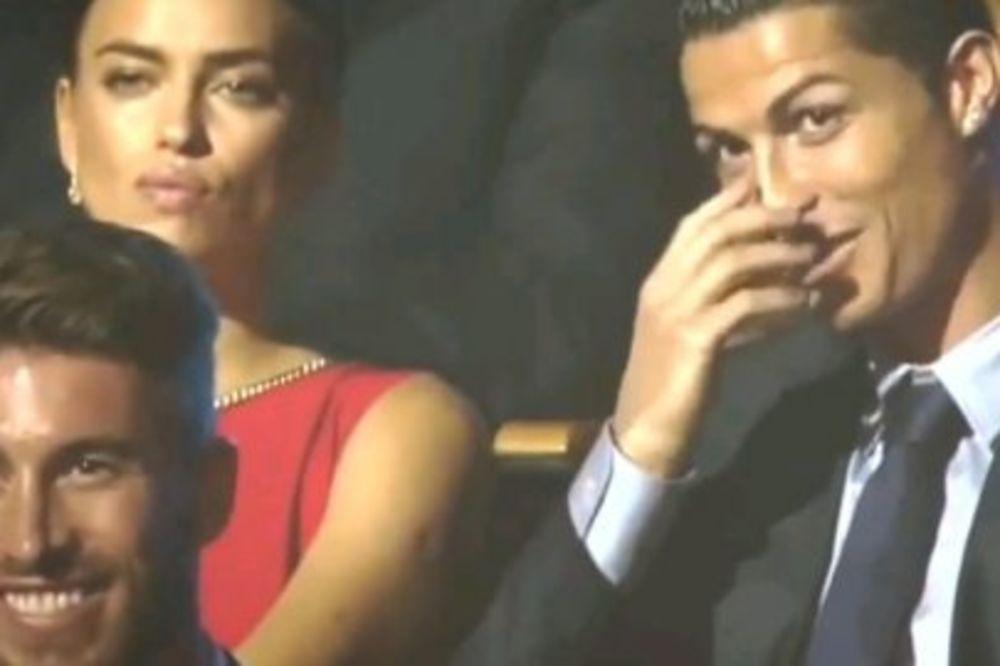 (VIDEO) LEDENA RUSKINJA: Pogledajte kako je Irina besnela, dok se voditeljka šalila sa Ronaldom