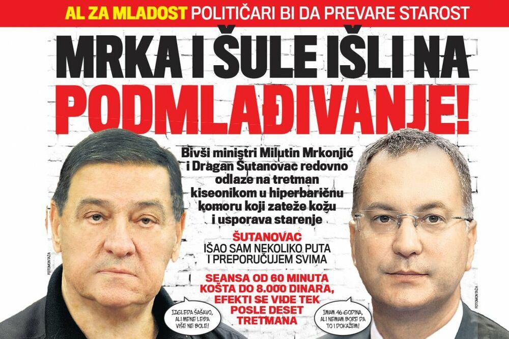 DANAS U KURIRU ŽAL ZA MLADOST: Mrkonjić i Šutanovac išli na podmlađivanje!