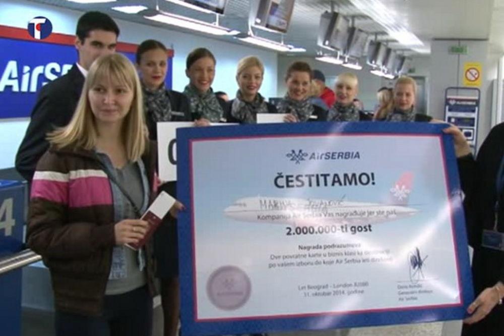 70 ODSTO VIŠE: Er Srbija u 2014. prevezla dva miliona putnika!