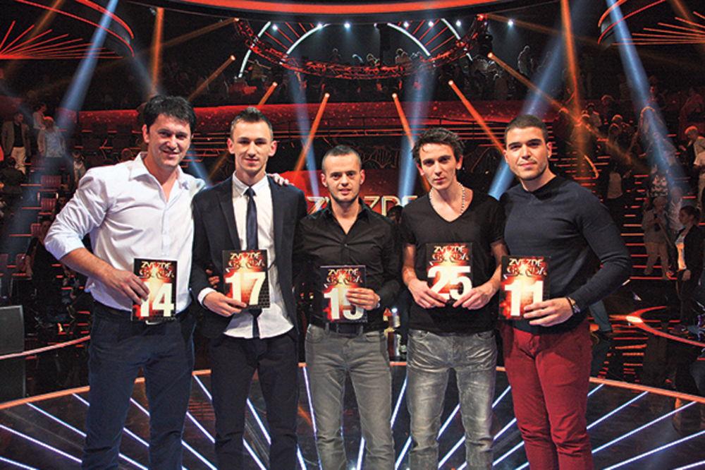 ZVEZDE GRANDA: Marinijan, Zoran, Petar Vasić, Marian i Petar Gopić su prošli dalje