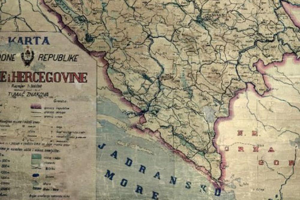 KARTA IZ 1946: Sutorina je u Bosni i Hercegovini?!