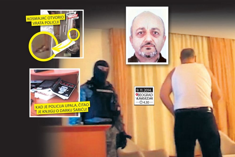 SVE O HAPŠENJU KOSMAJCA U NJEGOVOJ TVRĐAVI: Srpski Eskobar uhapšen u gaćama i zlatnim papučama!