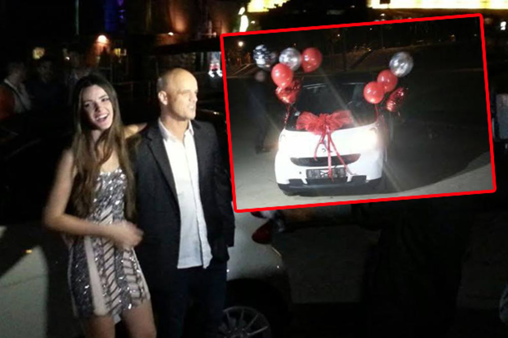 TATA SE OTVORIO: Boban Rajović ćerki Anđeli za 18. rođendan poklonio auto!