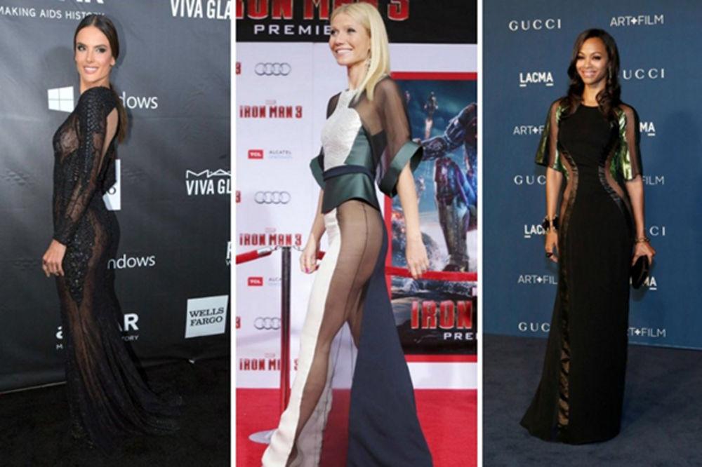 Trend u Holivudu: Zvezde bez gaćica na crvenom tepihu
