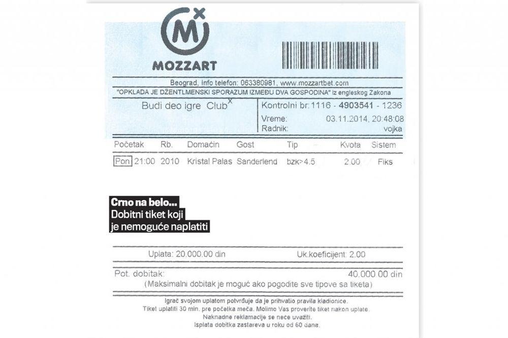 NE DAJU PARE: Evo kako kladionica Mocart vara igrače!