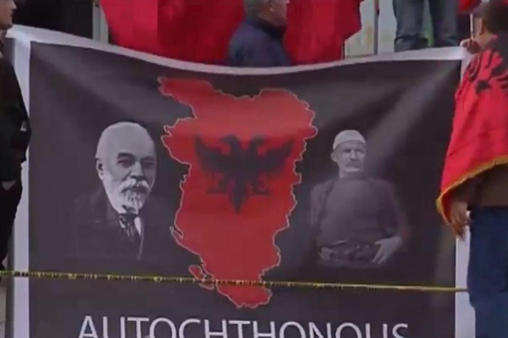 PROVOKACIJA: Zastava velike Albanije usred Dečana?!