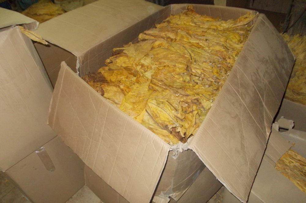 VALJEVO: Zaplenjeno 700 kg duvana u listu