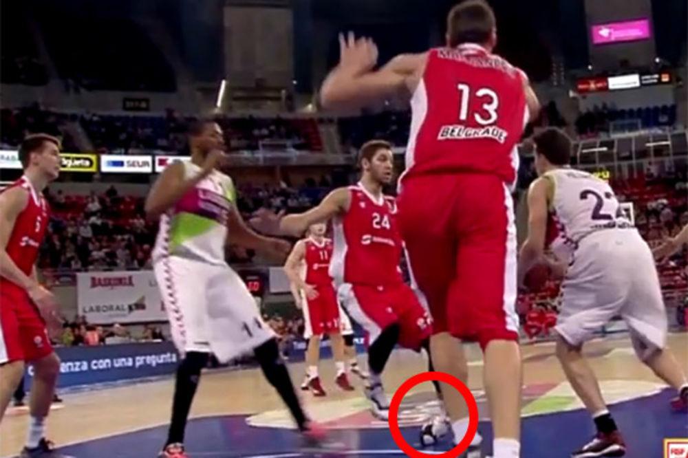 (VIDEO) IZVRNUO ZGLOB: Pogledajte kako se povredio Stefan Jović