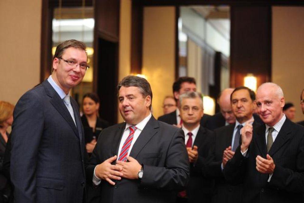 PRIJEM ZA NEMAČKOG MINISTRA Vučić: Naš strateški cilj je da budemo deo EU!