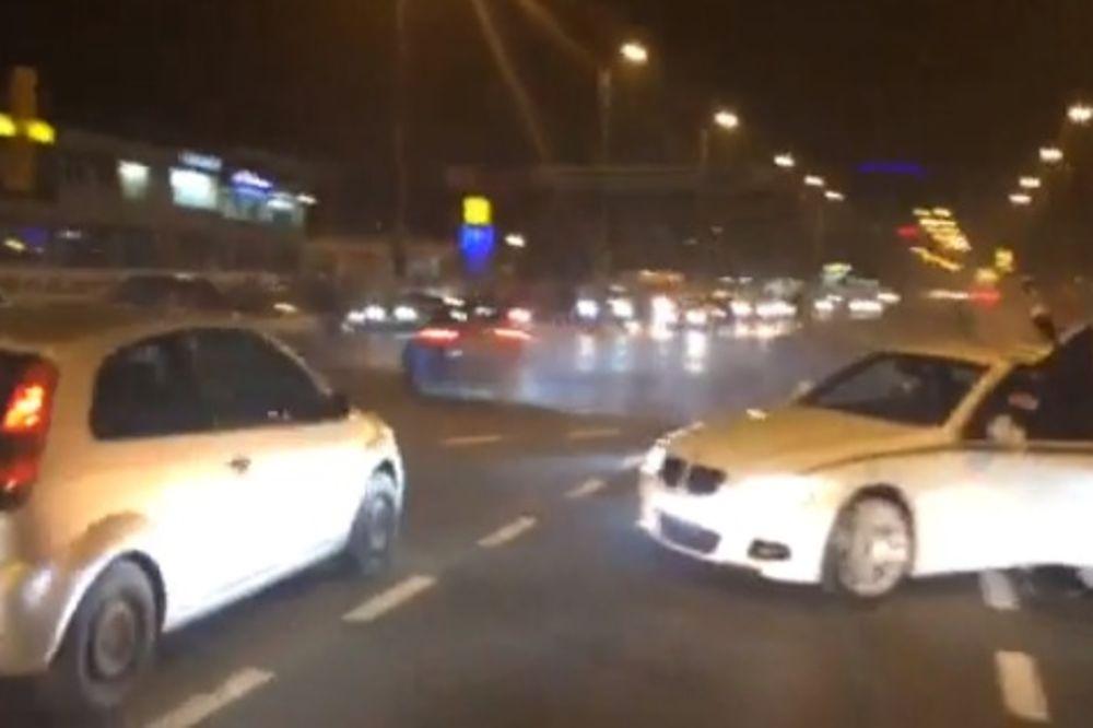 NIJE MASERATI ZA SVAKOGA: Driftovao usred Zagreba pa se slupao! (VIDEO)