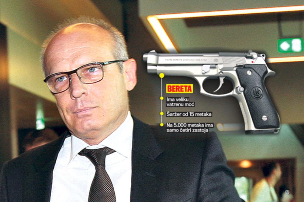 KLJUČNI DOKAZ: Ovo je pištolj iz kojeg je upucan Beko!