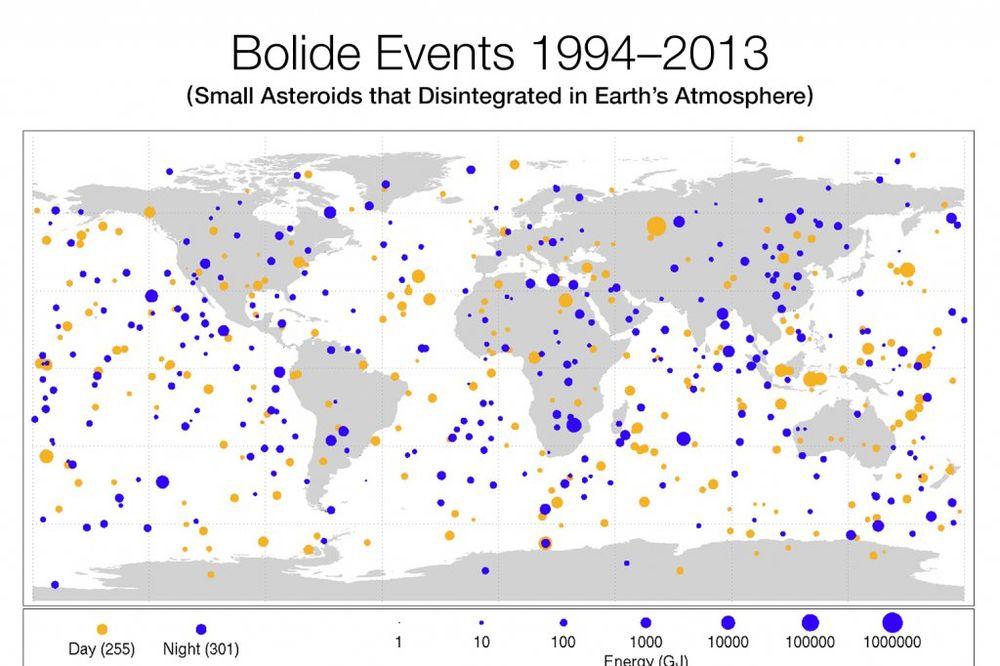 SVE SMO OVO PREŽIVELI: Pogledajte gde su sve Zemlju izudarali asteroidi