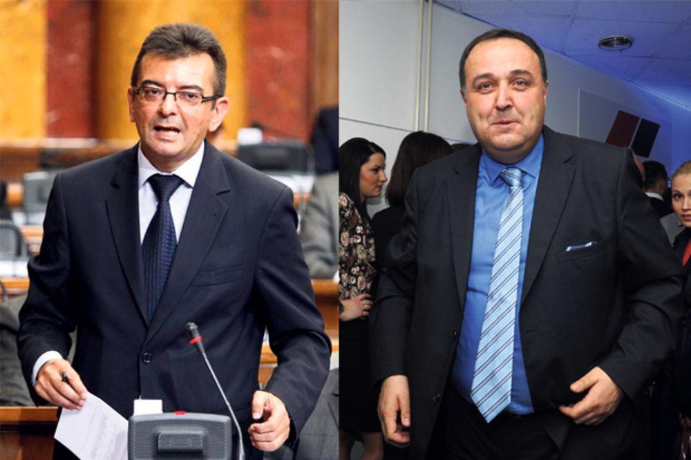 LETELO PERJE: Umalo se potukli Zoran Babić i Janko Veselinović