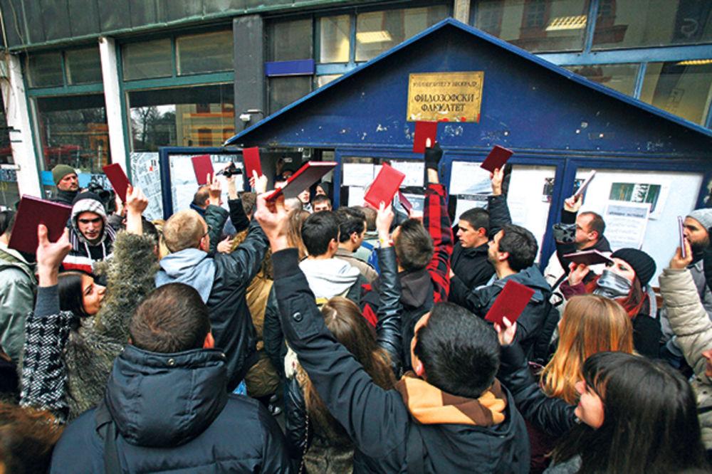 STUDENTSKI POKRET NA FILOZOFSKOM: Dogovor sa upravom nismo postigli