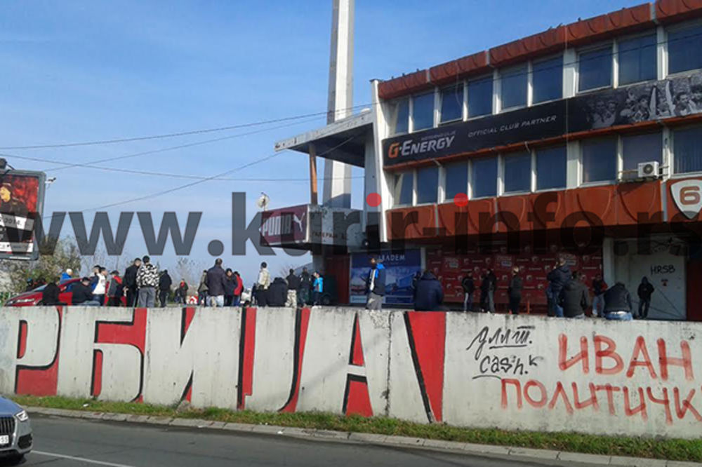 (FOTO) PROTEST NAVIJAČA: Na Marakani samo pedesetak Delija