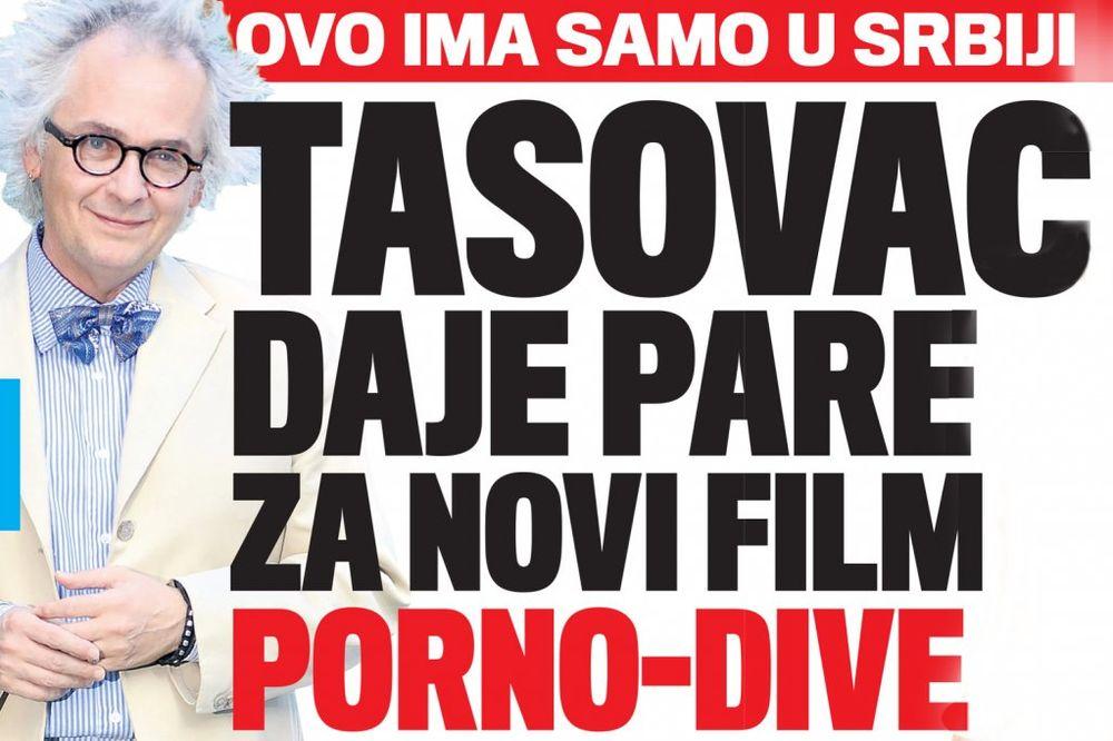 DANAS U KURIRU SKANDAL: Tasovac daje pare za novi film porno-dive!