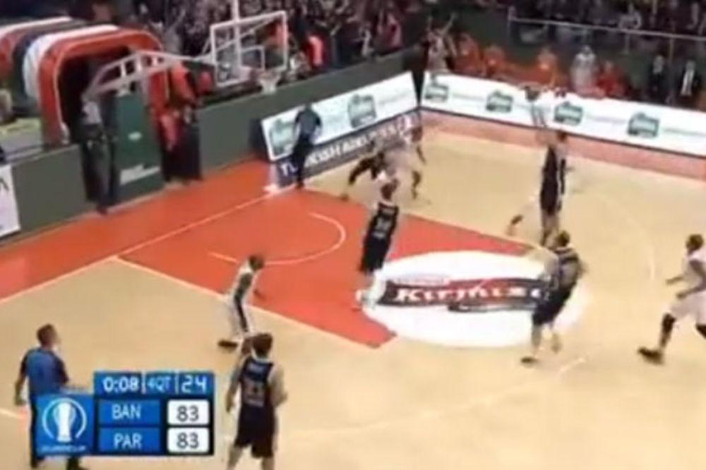 (VIDEO) ZAR OPET: Pogledajte kako je Tepić promašio šut za pobedu Partizana