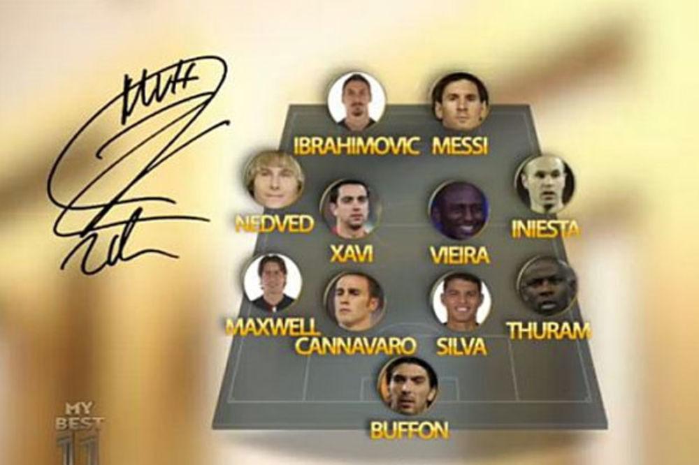 (VIDEO) ZLATANOV IDEALNI TIM: Bufon.... Mesi i Bog Ibrahimović!