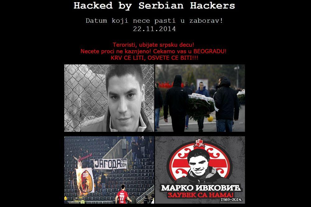 SRPSKI HAKERI OBORILI 200 TURSKIH SAJTOVA: Slika Marka Ivkovića na svim stranicama!