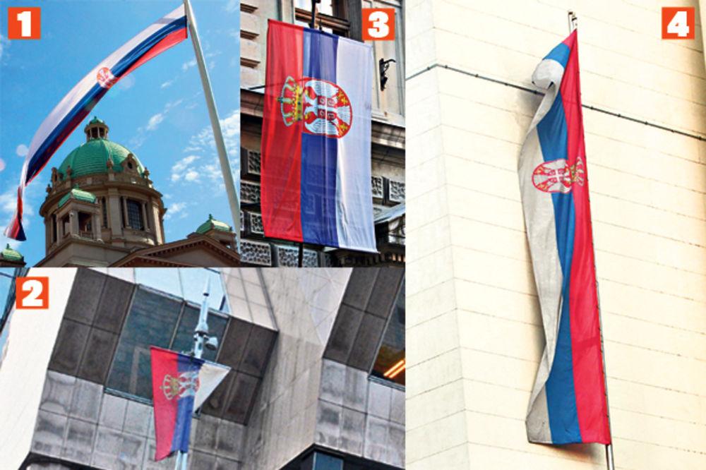 SRAMOTA: Kače zastave Srbije kao da su gaće!