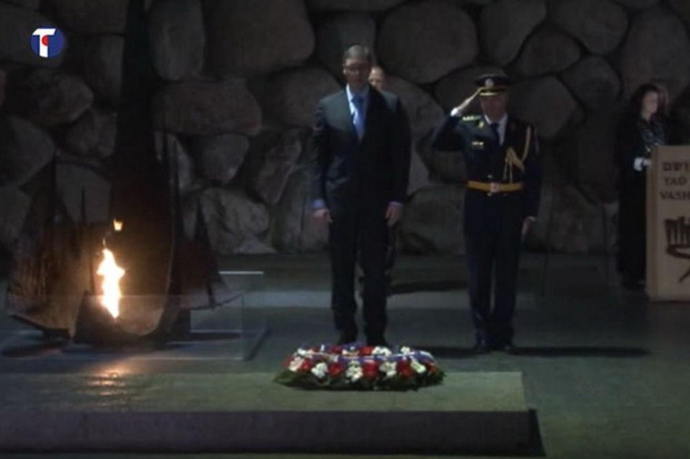 (VIDEO) VUČIĆ U JERUSALIMU: Premijer položio venac u Jad Vašemu