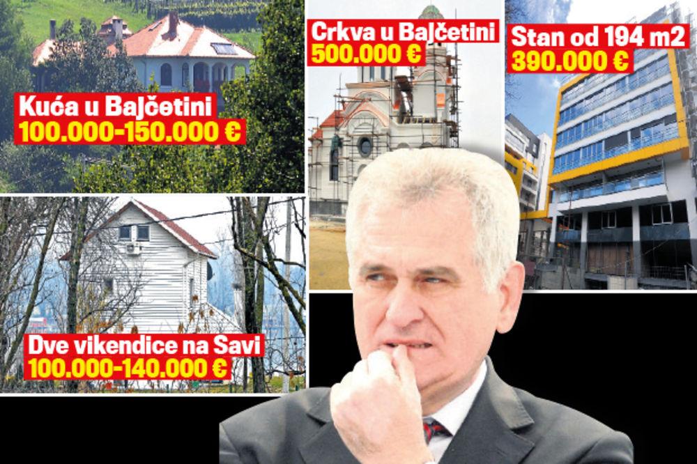 POŠTENJAČINA: Tomislav Nikolić ima imovinu od 1,3 miliona evra