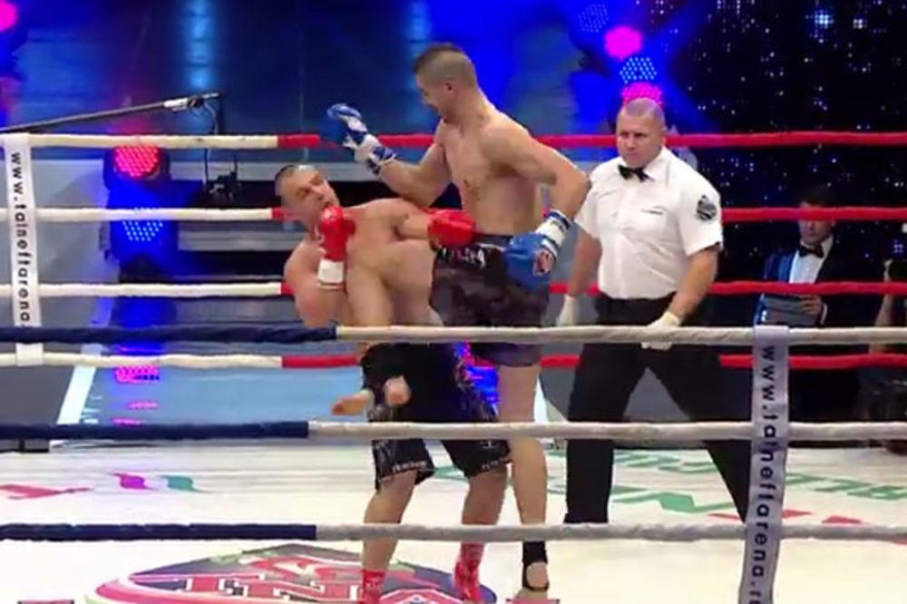 (VIDEO) NAJŽEŠĆI SRBIN: Pogledajte opaki nokaut kolenom u glavu mladog kik boksera