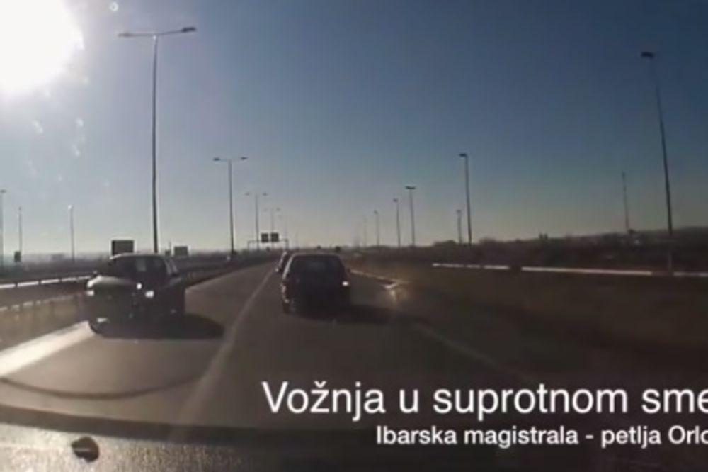 KAMIKAZA NA IBARSKOJ: Kod Orlovače vozio suprotnim smerom! (VIDEO)