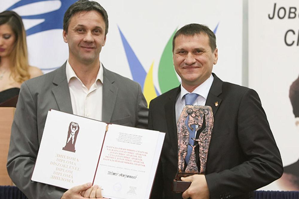 PRIZNANJE ZA MARJANOVIĆA: Predsednik RSS dobitnik nagrade Spartak
