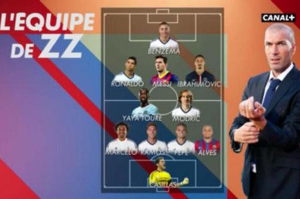 ZIDANOV DRIM TIM: Mesi, Ibrahimović, Ronaldo i još šestorica iz Reala