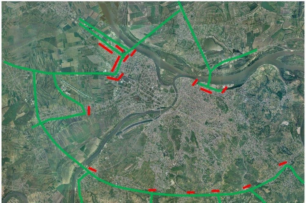 Mapa Pupinov Most Nova Trasa Za Tranzit Teretnih Vozila Vesti Kurir