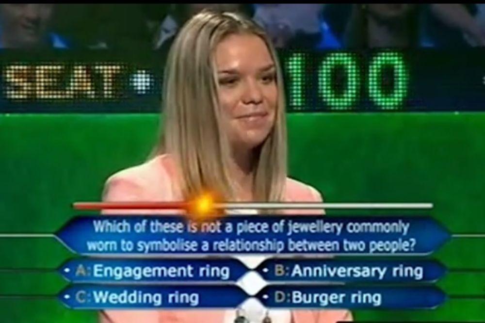 (VIDEO) MOŽDA JE MOGLO LAKŠE: Da li je ovo najgluplja takmičarka Milionera?
