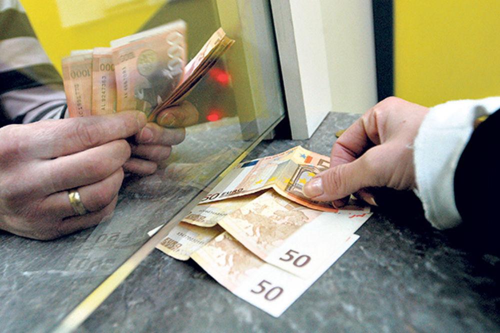 DOMAĆA VALUTA STAGNIRA: Evro danas 122,58