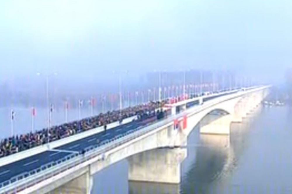 PUPINOV MOST IZ PTIČJE PERSPEKTIVE: Ovako izgleda prelazak Dunava iz vazduha! (VIDEO)