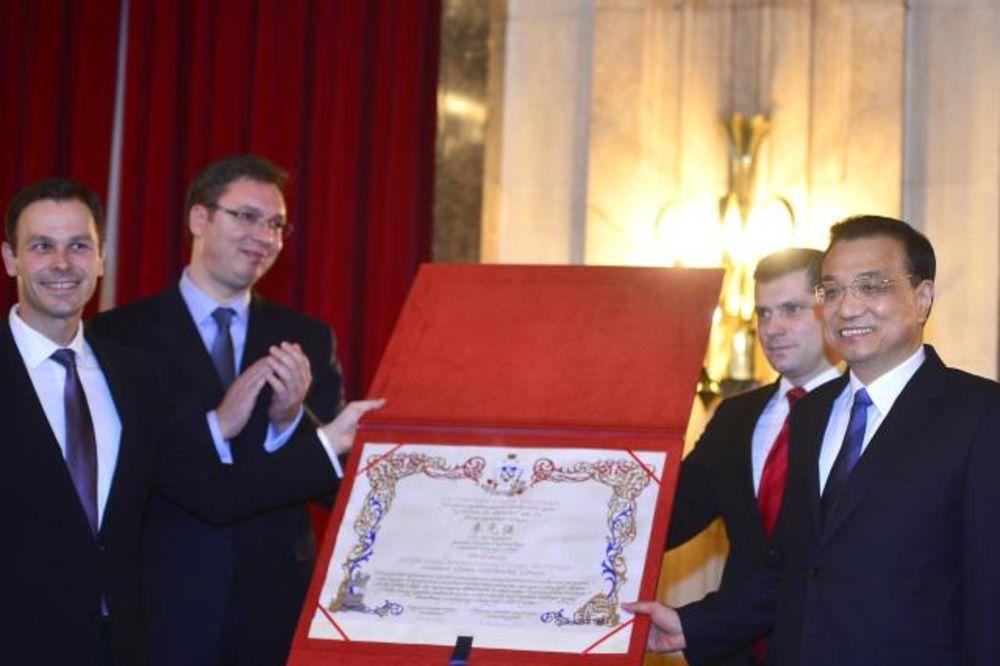 Kineski premijer Li postao počasni građanin Beograda