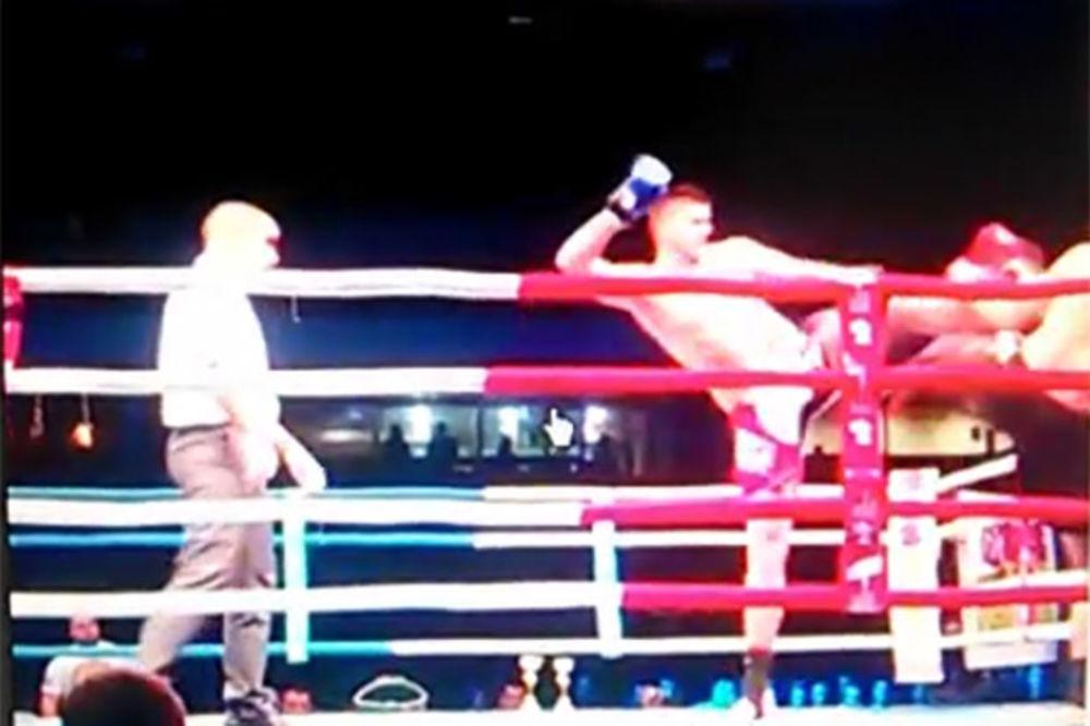 (VIDEO) NESLAVAN DEBI: Miličić zbog povrede predao prvi meč u kik-boksu