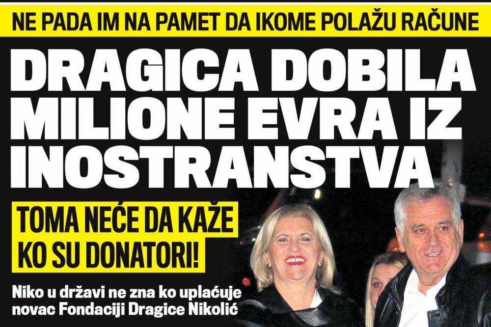DANAS U KURIRU KRIJU DONATORE: Dragica Nikolić dobila milione evra iz inostranstva!