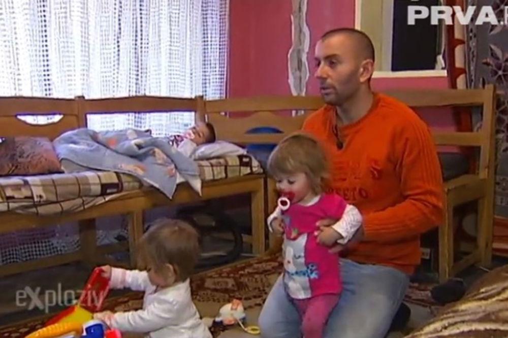 BORI SE KAO LAV: Tata Đorđe sam podiže troje dece, majka ih napustila