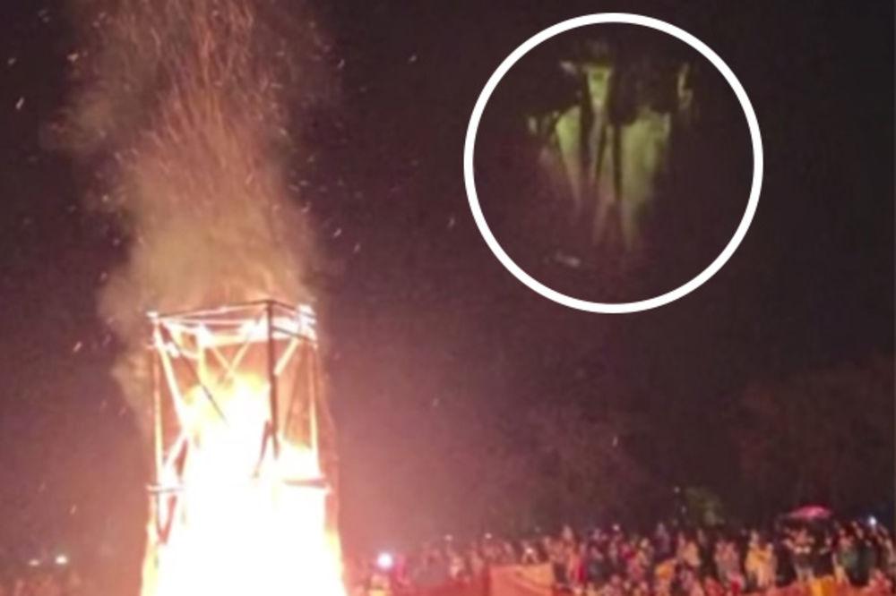 (VIDEO) DA SE SMRZNEŠ: Slikali paganski ritual, uslikali sablasno biće!